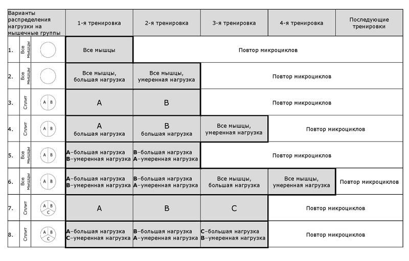 Составление тренировочной программы (тренировочного плана)