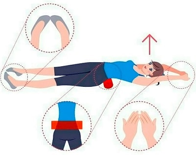 Почему стало модно лежать на валике из полотенца и так ли это полезно для спины?
