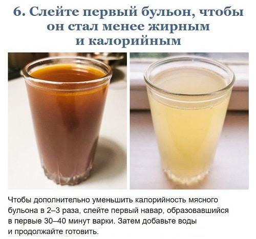 Зачем сливать первую воду при варке бульона?