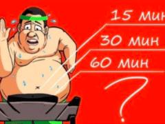 Через сколько минут тренировки начнет гореть жир?